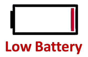 Low battery clipart.
