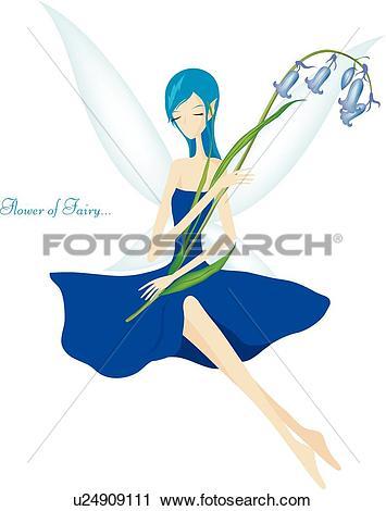 Clipart of women, flower fairy, woman, Woman, bellflower, plant.