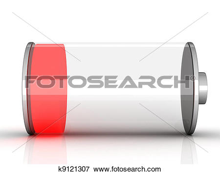 Stock Illustration of Batterie low k9121307.
