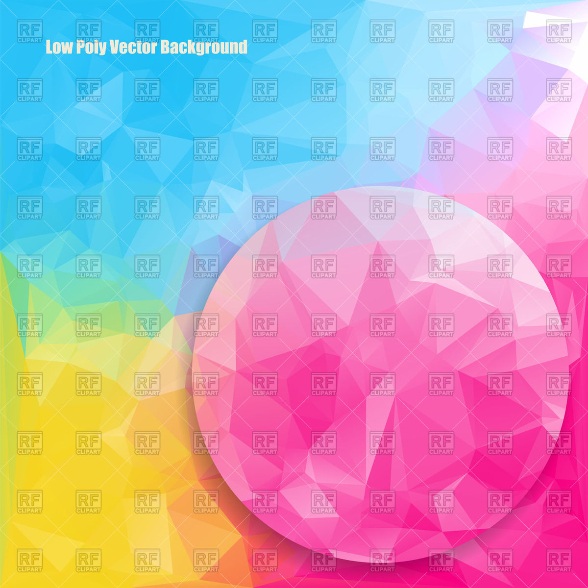 Low polygonal bright color background Vector Image #136453.