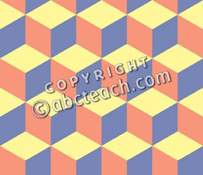 Clip Art: Tile Pattern: Hexagon Color 01 50% Low Resolution.