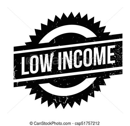 Low Income rubber stamp.