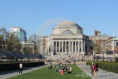 Columbia University Graduation Ceremony Editorial Stock Image.