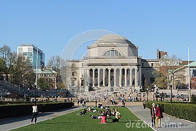 Columbia University Graduation Ceremony Editorial Stock Image.