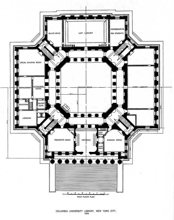 McKim, Mead & White's 1893 plan for the Low Memorial Library at.