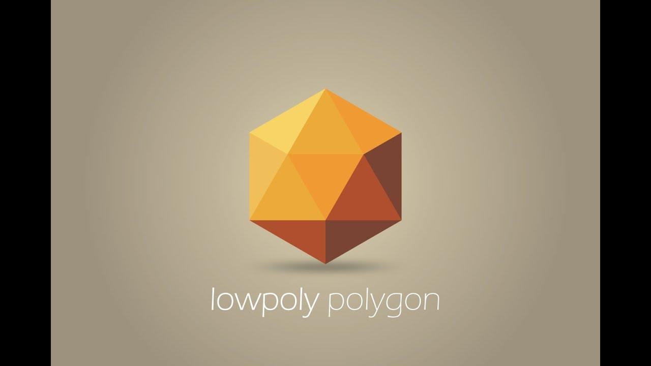 Simple LowPoly Logo Design in Illustrator CC.