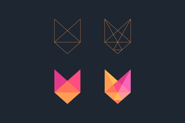 Low poly Fox logo by fet on Envato Elements.