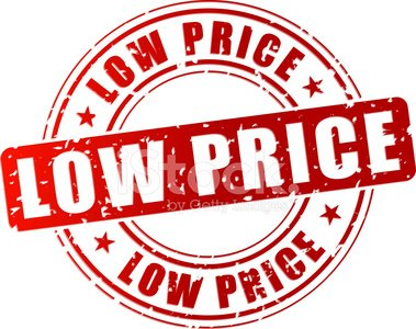 Vector low price stamp Clipart Image.