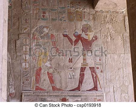Pictures of cartouches low relief wall paint.
