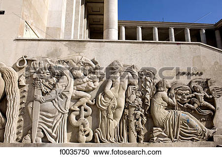 Stock Photography of France, Paris, museum of modern art, low.