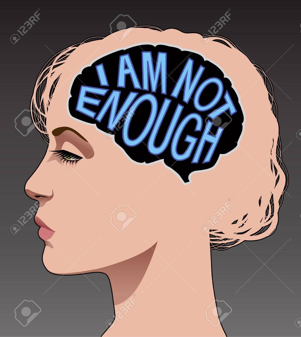 Woman with low self esteem..