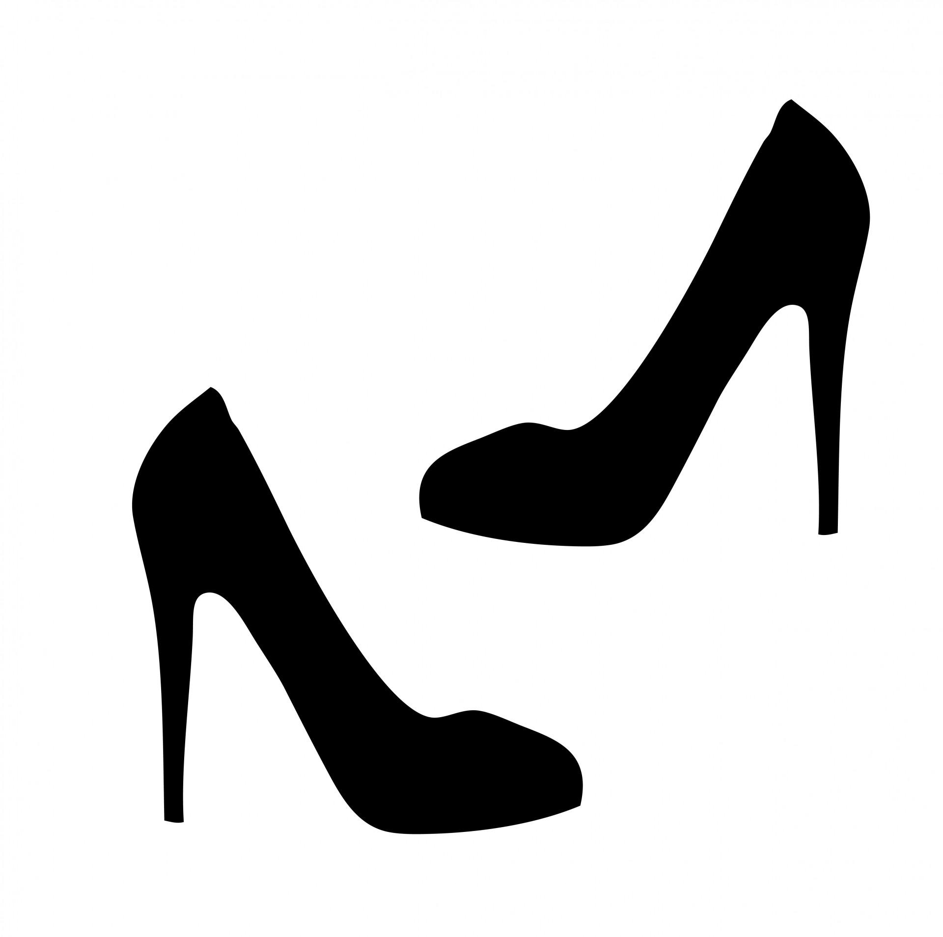 Shoe clipart images black background.
