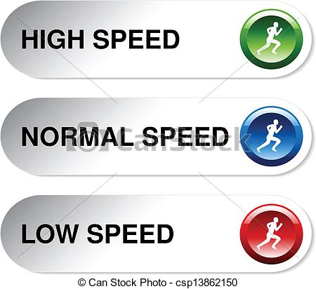 Clipart Vector of Vector button of speed.