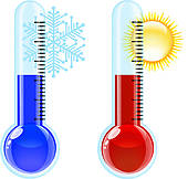 Cold Temperature Clip Art.