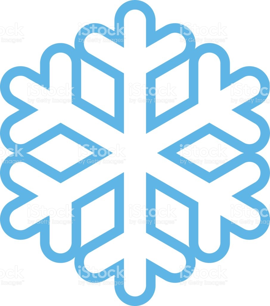 Snowflake Low Temperature Sign stock vector art 643396506.