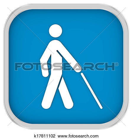Clip Art of Low Vision Access Sign k17811102.