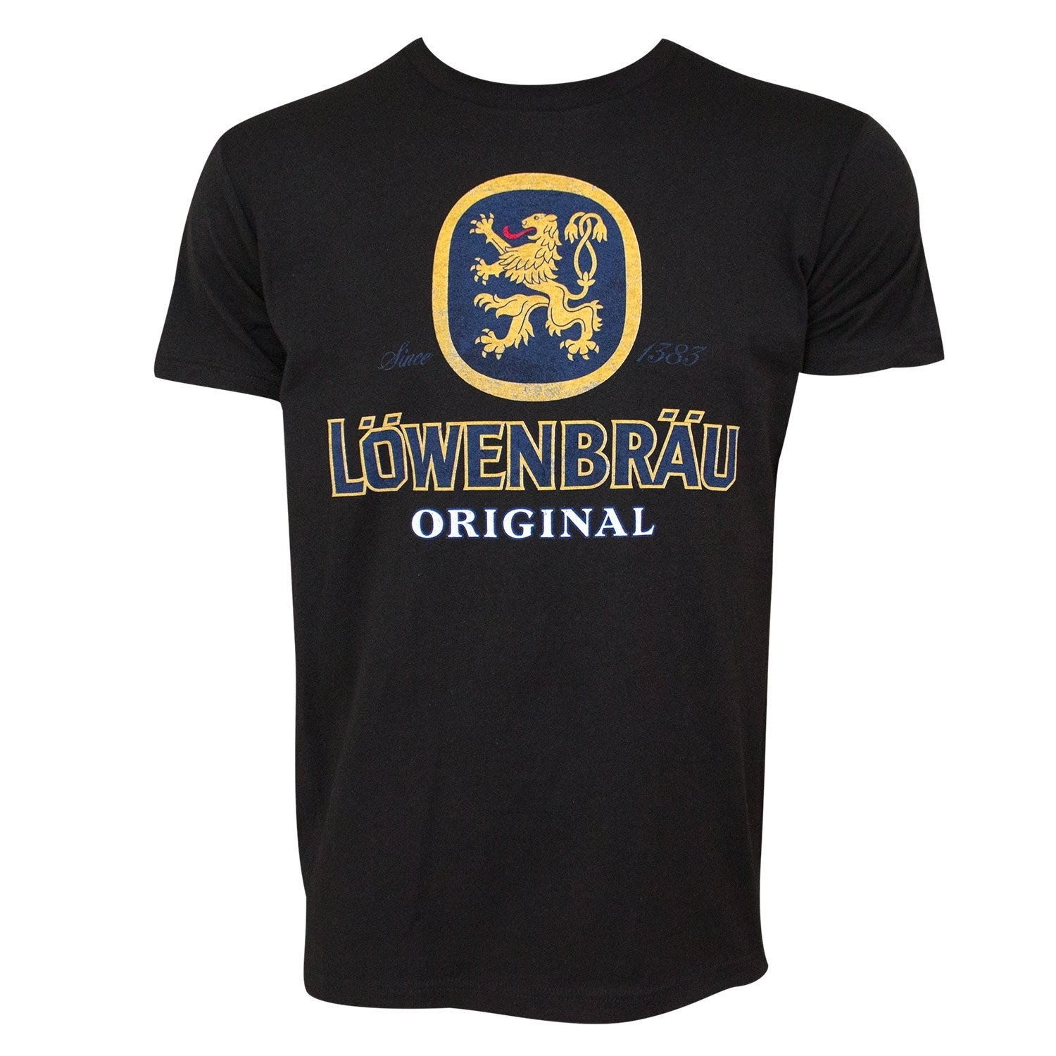 Lowenbrau Logo Black Tee Shirt.