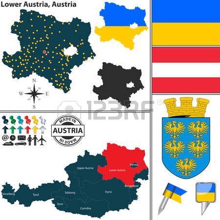 Map Of Lower Austria Stock Vector Illustration And Royalty Free.