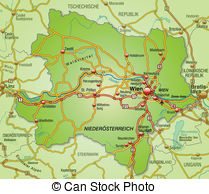 Map of lower austria with highways Illustrations and Clipart. 8.