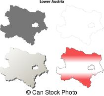 Lower austria outline Vector Clipart Royalty Free. 15 Lower.