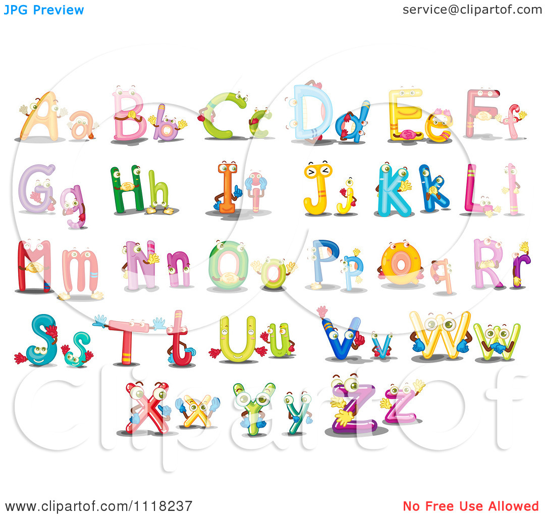 Alphabet lowercase clipart.