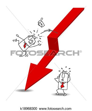 Pictures of Economy Arrow Means Economic System And Finances.