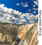 Picture of Morning Rainbow, Lower Falls of the Yellowstone.