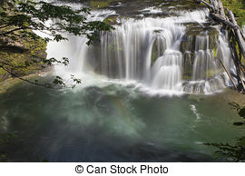 Stock Photo of Lower Falls Lewis River.