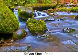 Stock Image of Multnomah Falls.