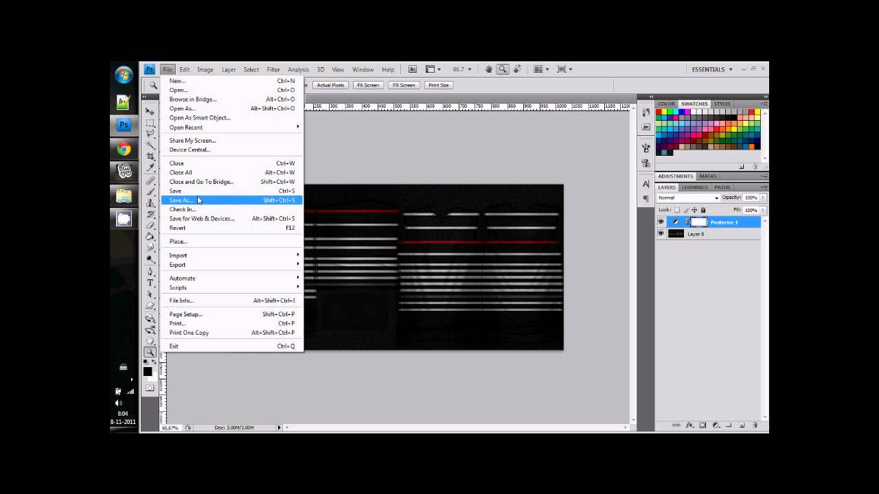 Photoshop :: How to reduce a PNG file size in photoshop with Posterize.