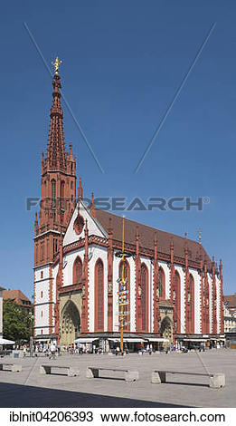 Stock Photo of Marienkapelle, Wurzburg, Lower Franconia, Bavaria.