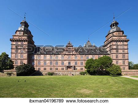 Stock Photograph of Schloss Johannisburg, castle, east side.
