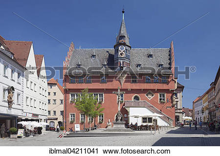 Stock Photography of Town hall, Ochsenfurt, Lower Franconia.