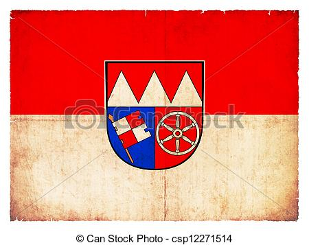 Clipart of Grunge flag of Lower Franconia (Bavaria, Germany.