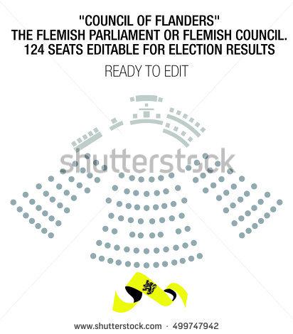 Council Of Flanders. The Flemish Parliament Or Flemish Council.