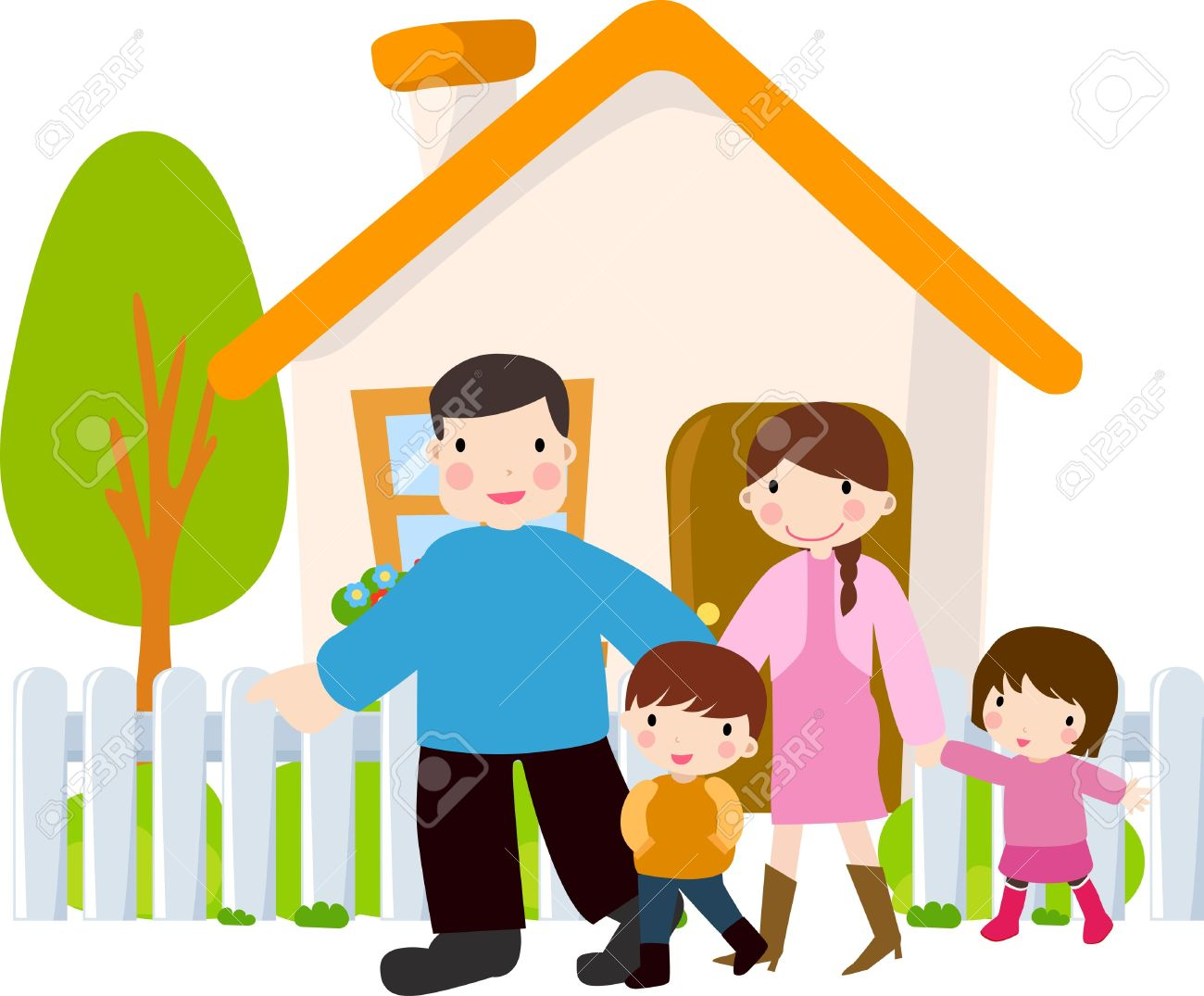 Family house clipart.