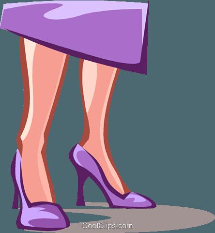 women's lower legs, dress shoes Royalty Free Vector Clip Art.