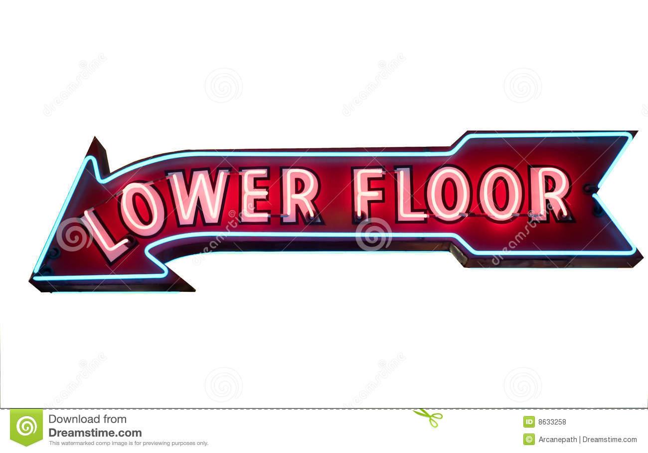 Lower Level Arrow.