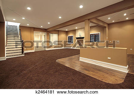 Stock Photography of Lower level basement k2464181.
