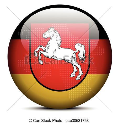 Clipart Vector of Lower Saxony, Germany.