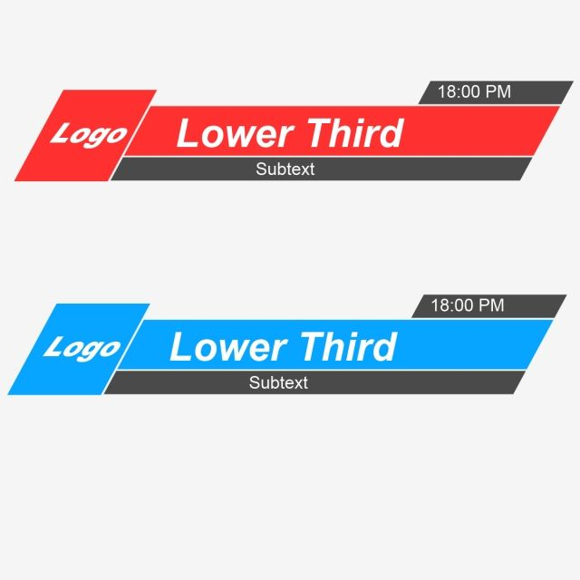 Lower Third Vector Banner, Free Lower, Third, Graphics PNG.