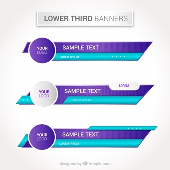 Lower Third Vectors, Photos and PSD files.