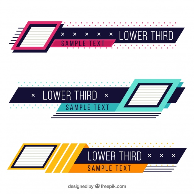 Pack of creative colorful lower thirds Vector.