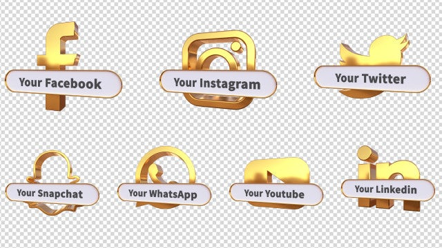 3D Social Media Lower Thirds.