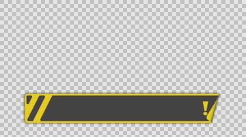 Banner sticker empty lower third banner animation png+alpha.