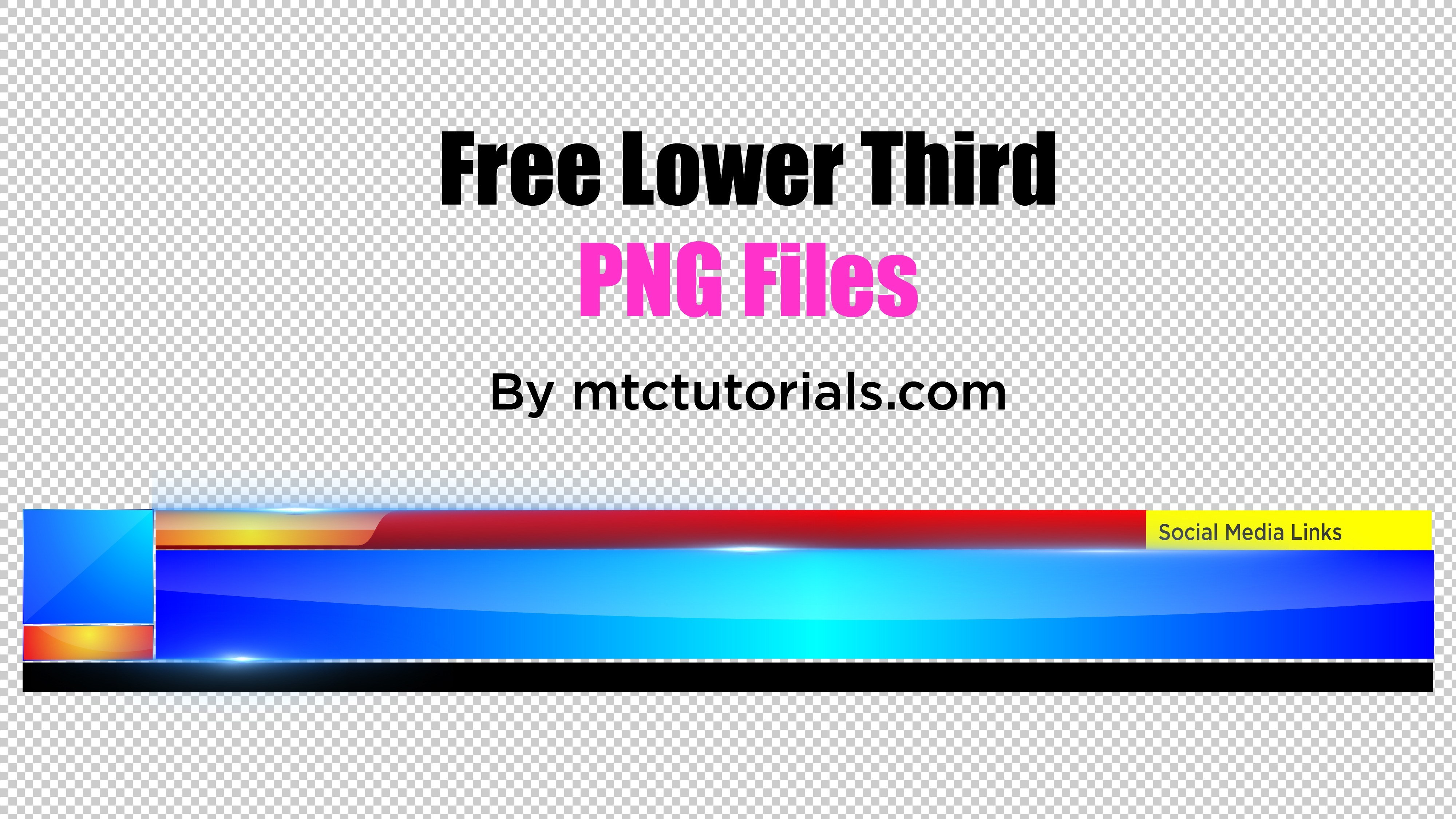 Royalty Free Professional Lower Third's PNG.