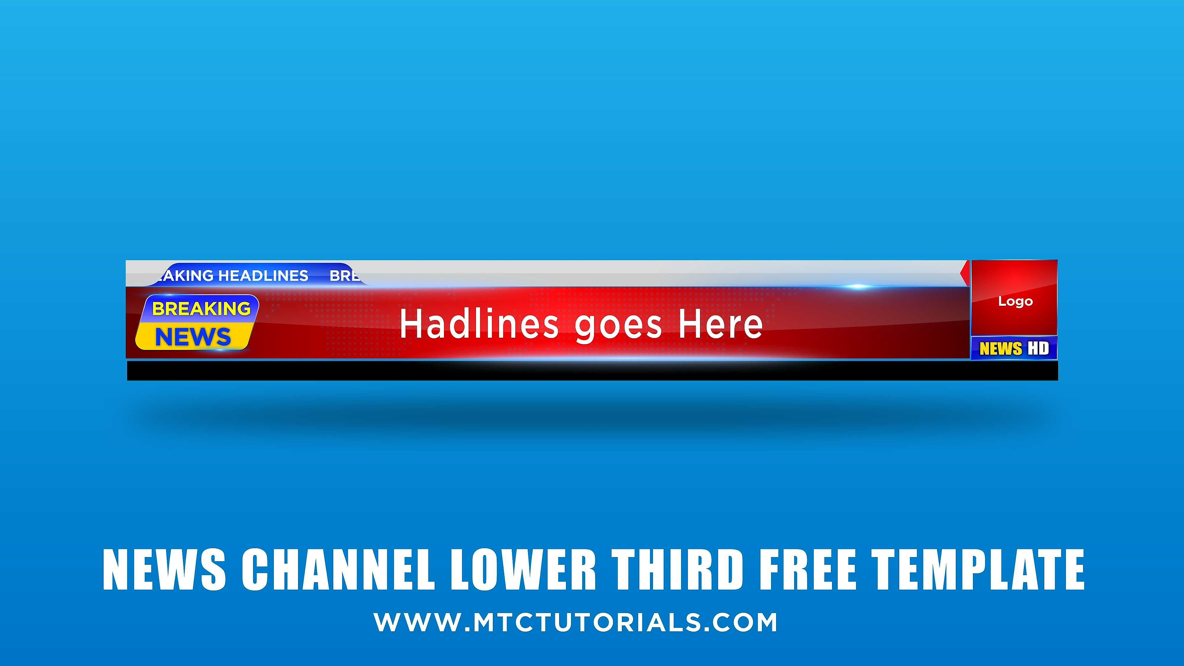 Lower Third Free PNG Graphic.