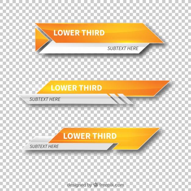 Modern lower third templates Vector.