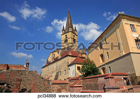 Pictures of Romania, Transylvania, Sibiu, Evangelical Cathedral.