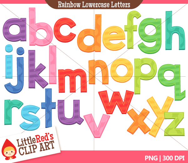 Lower case alphabet clipart.